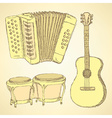 Sketch musical instrument in vintage style vector image vector image