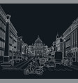 sketch street rome vector image vector image