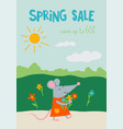spring sale with rat vector image