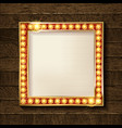 square glowing frame vector image