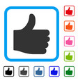 thumb up framed icon vector image vector image