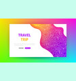 travel trip landing page vector image vector image
