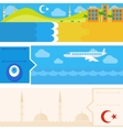 Turkish set of horizontal flat banners vector image