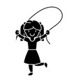 girl with jumping rope icon vector image