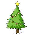 a christmas tree vector image