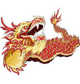 a dragon dance for chinese new year with line vector image