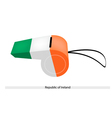 A Whistle of The Republic of Ireland vector image