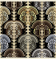 abctract modern 3d greek seamless pattern ornate vector image vector image