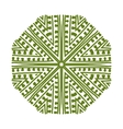 Abstract green circle pattern for your design vector image