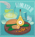 allanblackia oil used for cooking vector image vector image