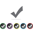 Approval icons vector image vector image