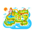 aquapark plan with water slides vector image vector image