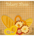 Bakery Cover menu vector image vector image