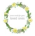 beautiful leafy frame wreath eucalyptus fern vector image vector image