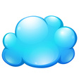 Blue cloud on white vector image vector image