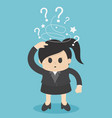 businesswoman made trance and a question mark vector image