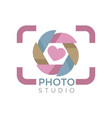 camera focus photo studio isolated icon mobile app vector image vector image