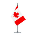 canadian flag hanging on the metallic pole vector image vector image