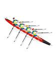 Canoe Quadruple Sculls 2016 Sports 3D vector image vector image