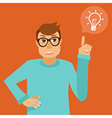 character in flat style vector image vector image