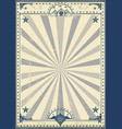 circus circus vintage poster vector image vector image