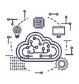 cloud computing server with circuit and icons vector image vector image