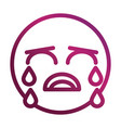 crying funny smiley emoticon face expression vector image