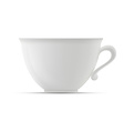 cup on white background vector image vector image