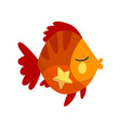 cute fish little sea creature character marine vector image vector image