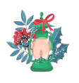 cute lamp christmas color set vector image vector image