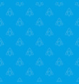 danger sign pattern seamless blue vector image