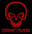 Digital skull virus vector image vector image
