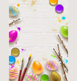 easter background with space for greeting vector image vector image