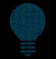 electric bulb composition icon of halftone circles vector image
