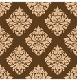 Floral seamless brown arabesque pattern vector image vector image