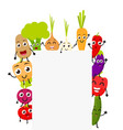 funny cartoon vegetables vector image vector image
