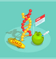 gmo food isometric composition vector image vector image