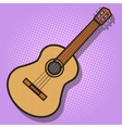 Guitar hand drawn pop art style vector image vector image