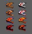 helmet moto cross extreme eps 8x vector image