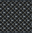 leather quilted black 3d seamless pattern vector image