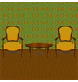 living room in retro style vector image vector image