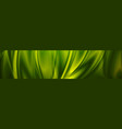 magic emerald green smooth waves banner design vector image vector image