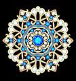 mandala brooch jewelry design element tribal vector image