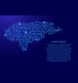 map honduras from printed board chip and radio vector image vector image