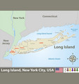 map long island vector image