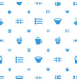menu icons pattern seamless white background vector image vector image