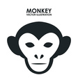 monkey design vector image