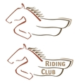 Mustang symbol vector image vector image