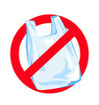 no plastic ecological environmental pollution vector image