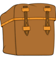 Old suitcase vector image